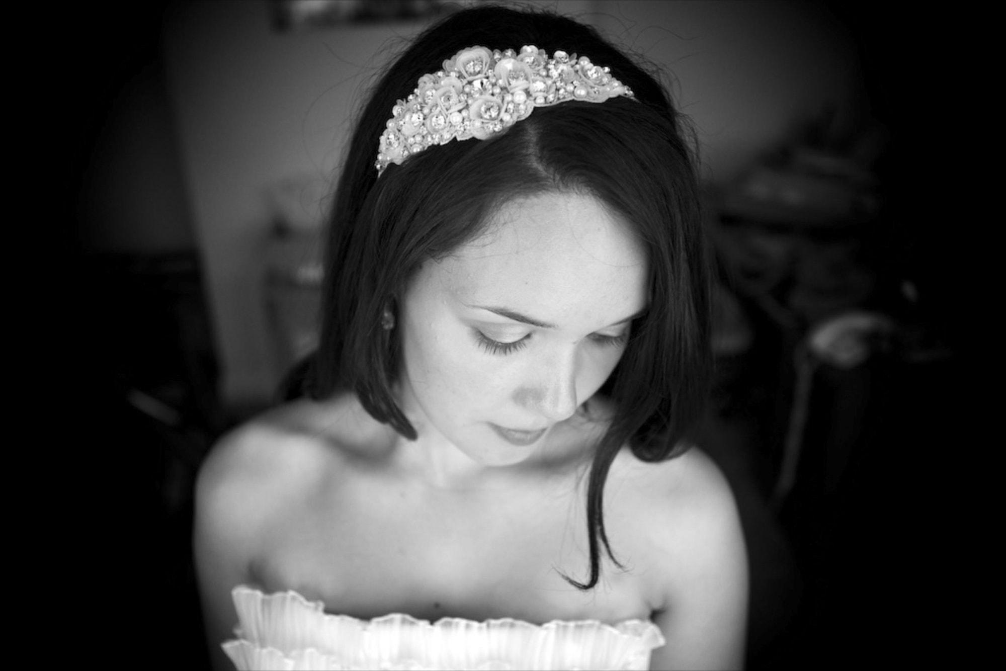 Bridal portrait before wedding taken by London wedding photographer