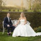 Bride and Groom at Oaks Farm, Wedding Photographer Beckenham