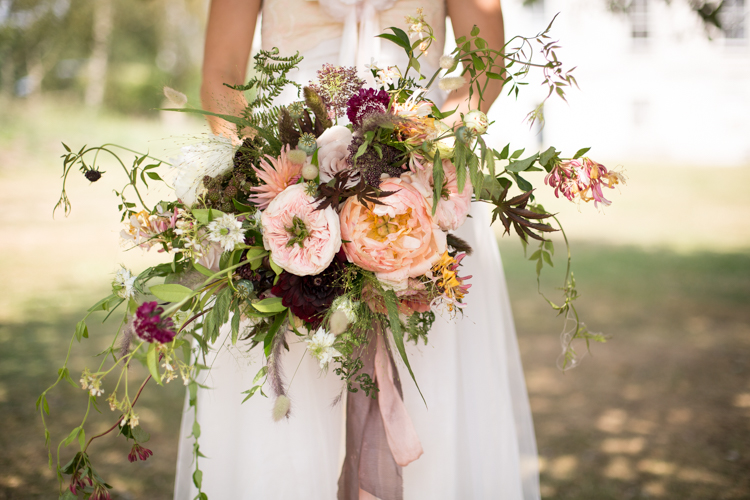 Bridal bouquet created by Pesh Flowers, taken by Bromley wedding photographer