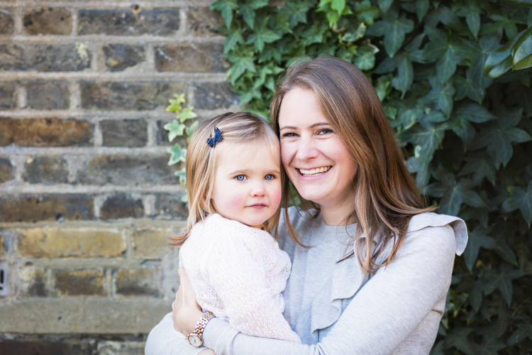 Mum and daughter in natural family picture in Beckenham