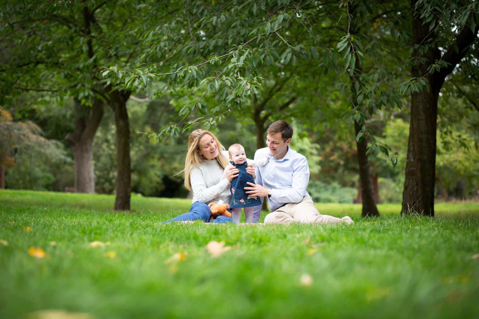 family photoshoot outside in Beckenham