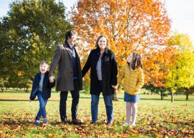 Family photoshoot in Beckenham in Autumn