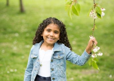 spring photoshoot of girl outside in Beckenham in spring photoshoot
