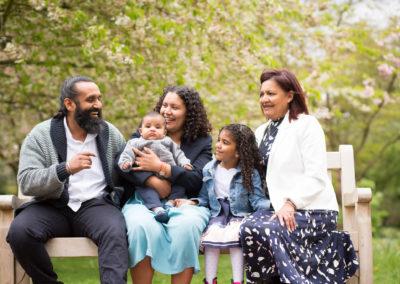 family and grandparents photoshoot in Kelsey Park Beckenham