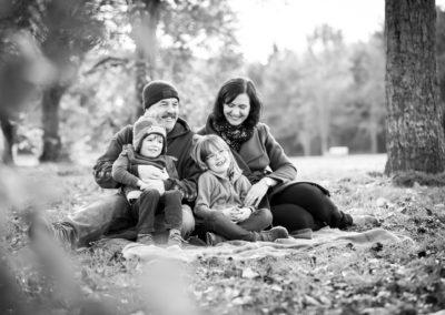 Family photo outdoors in Beckneham.