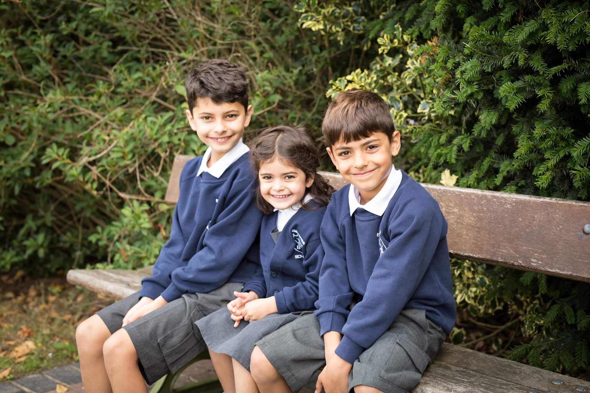 siblings outside school photo bromley