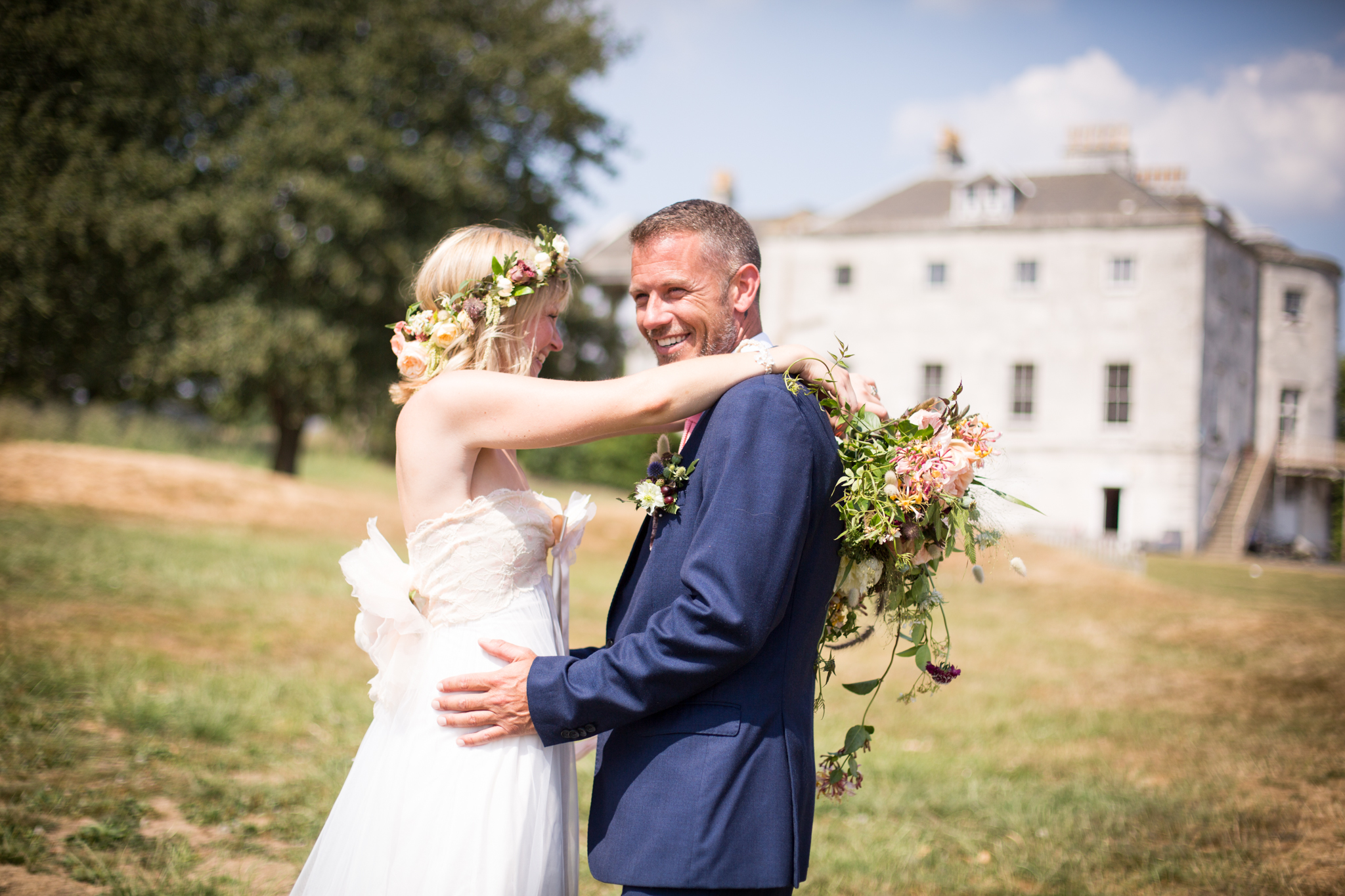 Smiling groom in London wedding photography image
